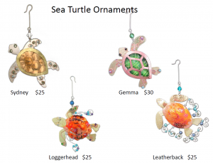 Some sample ornaments from our Gift Catalog